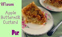 Warm Apple-Buttermilk Custard Pie# desserts made with buttermilk Pie Recipes, Dessert Recipes, Dessert Ideas, Just Desserts, Delicious Desserts, Apple Pie From Scratch, Pie Kitchen, Buttermilk Recipes, Just Cakes