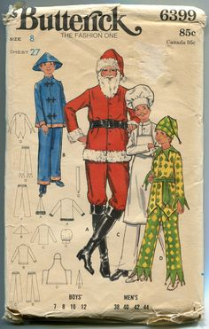 1960s Santa Cook Jester Chinese Boy by DesignRewindFashions, $11.00