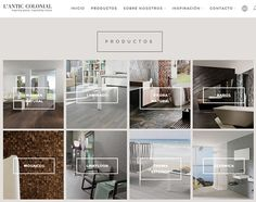 Discover the new L'Antic Colonial website #Porcelanosa @anticcolonial #naturalmaterials #webdesign