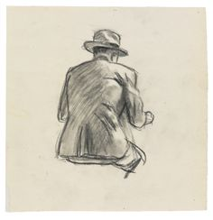 Edward Hopper (American, 1882-1967), Study for Nighthawks, 1941 or 1942. Fabricated chalk and charcoal on paper. Les Illusions perdues