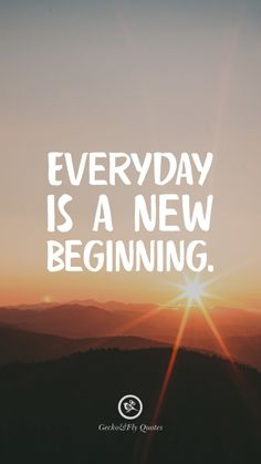 Everyday is a new beginning. Inspirational And Motivational iPhone HD Wallpapers Quotes #Motivational #Inspirational #Quotes #Wallpaper #iPhone #iOS #sayings