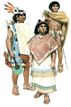Clockwise; nobleman;farmer;macehual woman