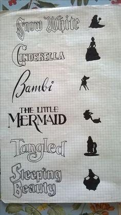 Disney Draw Princess Disegno Principesse Snow White Tangles Sleeping Beauty The Little Mermaid Bambi Cinderella