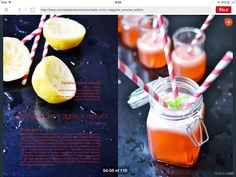 Limonata alle fragole e menta