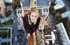 This Russian Girl Angela Nikolau Takes The Riskiest Selfies Ever - from Boredpanda.com