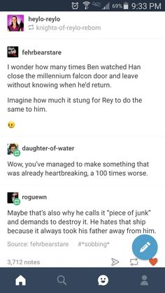 Star wars the last jedi  ben solo  han solo reylo