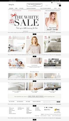 Top retailing websites - the white company