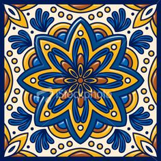 Talavera Tile Royalty Free Stock Vector Art Illustration