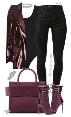 """Untitled #2647"" by highfashionfiles ❤ liked on Polyvore featuring J Brand, Yummie by Heather Thomson, Bling Jewelry, Roberto Cavalli, Givenchy, Rolex and Harry Kotlar"