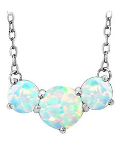 Another great find on #zulily! Teal Opal & Sterling Silver Three Circles Pendant Necklace #zulilyfinds