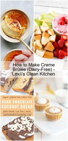 How to Make Creme Brûlée (Dairy-Free) - Lexi's Clean Kitchen - recettessanslait Dairy Free Dark Chocolate, Lexi's Clean Kitchen, My Dairy, Almond Milk, Creme, Cheesecake, Coconut, Gluten Free, Cleaning
