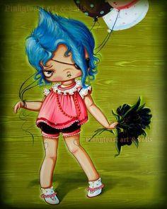 Little Love Balloon-Tattoo Valentine-Pinkytoast Art Print-8x10