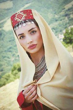 "Armenian Taraz(National dress) *** ""Armenia is considered as the land of Noah… Russian Caucasian, Armenian Military, Armenian Culture, Orthodox Wedding, Folk Costume, Muslim Fashion, World Cultures, Traditional Dresses, Girl Pictures"