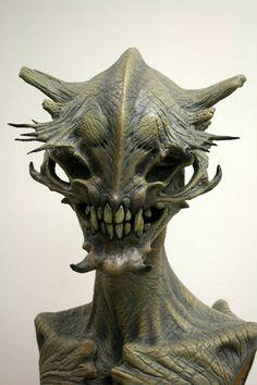 Creature Feature, Creature Design, Weird Creatures, Fantasy Creatures, Sculpture Head, Lion Sculpture, Alien Concept, Concept Art, Beasts Of England