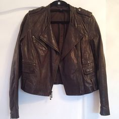 Vince leather jacket Brown leather jacket by Vince. Excellent condition. Vince Jackets & Coats