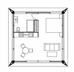En este día les traemos una pequeña y hermosa vivienda que puede ampliarse fácilmente, tanto en su parte exterior como también interior, gracias a la utili