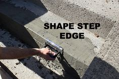 Cement step repair: get your curb appeal back in one day!
