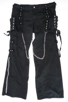 TRIPP NYC Black Bondage D Ring Chain Punk Goth Metal Pants 38x31 Studs Cyber 13 #TRIPPNYC #Punk
