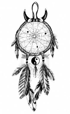 Dream Catcher Design, I like it for the Horns Because I'm a Taurus