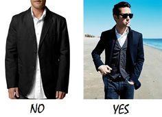 bad fitting men's jacket
