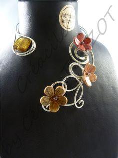 1000 images about collier fil de fer on pinterest tuto - Tuto bijoux pate fimo et fil aluminium ...