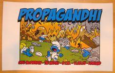 Propagandhi 2005 Portland concert poster by Lee Zeman  Rules!