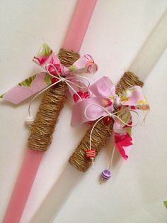 Easter candles Orthodox Easter, Easter 2015, Baptism Candle, Diy Candles, Candle Decorations, Palm Sunday, Easter Crafts, Easter Ideas, Holidays And Events