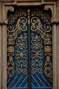Door blue and gold