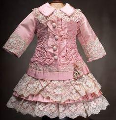 antique doll dress   Antique Pink dress-inspiration for AG doll, ...   American Girl Dolls