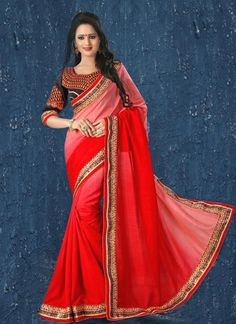 Voluptuous Lace Work Contemporary Style Saree