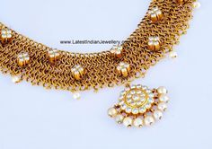 Designer South Indian Diamond Necklace | Latest Indian Jewellery Designs