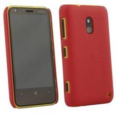 Nokia Lumia 620 Compatible Rubberized Protective Cover - Red - $7.95