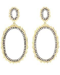 sylva & cie. 18k yellow gold and diamond earrings. nice.