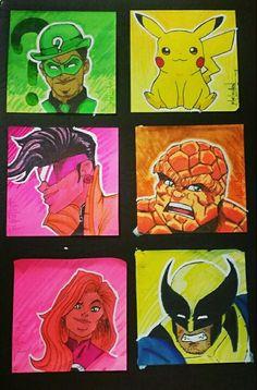 Post it sketches by MoeLycaen Sketches, Design, Art, Art Background, Kunst, Draw, Gcse Art, Doodles, Design Comics