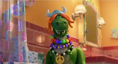 Pixar has released a clip from their latest 'Toy Story' short, 'Partysaurus Rex,' which is set to premiere with 'Finding Nemo' when that film is re-released in next month. Let's get this party(saurus) started! Bonnie Hunt, New Toy Story, Toy Story Party, Tim Allen, Michael Keaton, Buzz Lightyear, Disney And More, Disney Love, Disney Pixar