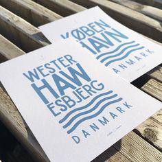 ⚓️ og hvad er din #hjemhavn ?  #danmark #esbjerg #westerhaw #københavn #kbh #cph #copenhagen #plakat #kutterblå #havn #vesterhavet #havet #sommer #sommerferie #jylland #boligindretning #bolig #interiør