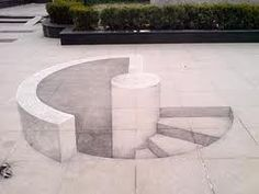 chalk art; illusion; staircase. This...is an accident waiting to happen for me…