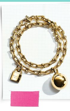 Jingle bell rock and roll into the holidays with a Tiffany HardWear wrap bracelet in gold. Gents Bracelet, Gold Bangle Bracelet, Gold Bangles, India Jewelry, Gold Jewelry, Fine Jewelry, Jewellery, Fall Accessories, Jewelry Accessories