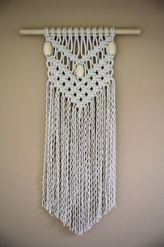 Sale 50% Off  Macrame Wall Hanging  Natural White Cotton