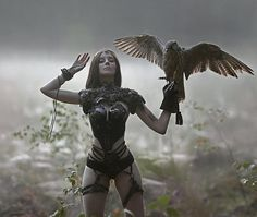 My another one, fantasy image with my favourite bird in this world - falcon Crank ❤ with model💎in costume from… Fantasy Images, Fantasy Women, Fantasy Girl, Dark Fantasy, Fantasy Characters, Female Characters, Spirit Art, Chica Fantasy, Bild Tattoos