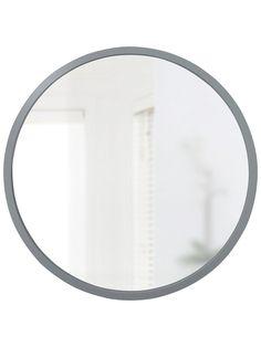 Umbra Hub Round Mirror, Grey at John Lewis & Partners Round Wall Mirror, Wall Mounted Mirror, Round Mirrors, Hallway Mirror, Bedroom Mirrors, Rusty Garden, John Lewis Shops, Mirror Shapes, Home Accessories