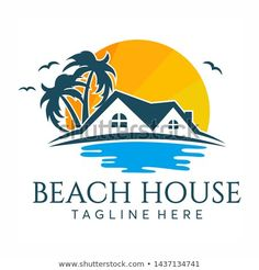 Find Beach House Logo Design Royalty Free stock images in HD and millions of other royalty-free stock photos, illustrations and vectors in the Shutterstock collection. Beach Hotels, Beach Resorts, Beach Logo, Resort Logo, Hotel Logo, Logo Design, Beach Cafe, Artist Logo, Real Estate Logo