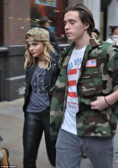 Together again? Brooklyn Beckham and Chloe Grace Moretz appeared to confirm that their relationship is back on as they enjoyed a romantic stroll in London on Friday