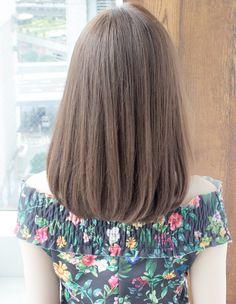 New Short Hair Korean Style Colour 10 Ideas Haircuts Straight Hair, Long Hair Cuts, One Length Haircuts, Grey Hair Remedies, Medium Hair Styles, Short Hair Styles, Hair Colour Design, Hair Upstyles, Hair Color Techniques