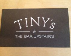 Tiny's TriBeCa. For drinks and dinner.