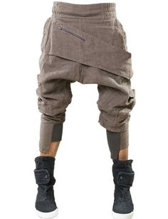 Demobaza Baggy Asymmetric Linen Trousers - Lyst