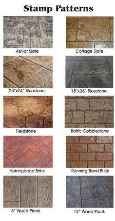 Living Earth Water Based Concrete Stain Color chart. | Color ...