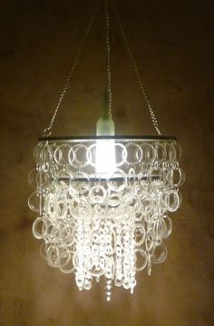 Unbelievably gorgeous--and made from recycled wine bottles! Hope I have an extra $1000 sitting around when we buy a house.