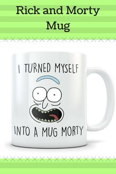 Rick and Morty mug. This shop has lots of Rick and Morty stuff as well as other popular T.V. shows. #rickandmorty #rick #morty #rickandmortymug #ad