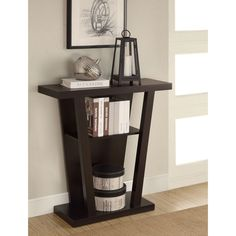 Coaster Company Cappuccino Storage Accent Table (Cappuccino Storage Accent Table), Brown